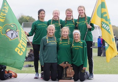 Calvin Christian coach Laurens TenKate believes his current group has the chance to make its mark as the best girls country team in school history. (Supplied photo)