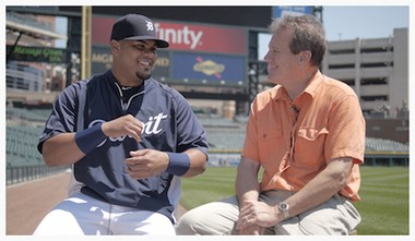 Alan Headbloom talks with Brayan PeA+-a, who was a catcher this season with the Detroit Tigers. PeA+-a defected from Cuba at the age of 16 to pursue his boyhood dream of playing Major League baseball. Not getting the jokes, wondering why all the guys in the clubhouse were laughing, has been one of the side effects of living and working in a setting where his English language skills were just developing.