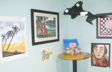 The work of local artists, both children and adults, is on exhibit at Colors of Community.
