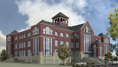 The grand stairway on the front of the Ottawa County Courthouse will be replaced.