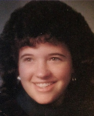Nancy Kovach's senior picture in the 1991 Comstock High School yearbook.