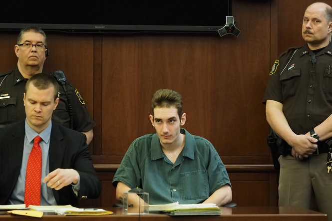 During a March 14 preliminary examination, 19-year-old Travis Tyler Wise, of Middlebury, Ind., pleaded not guilty to a litany of charges stemming from an incident where he and his half-brother allegedly assaulted a Michigan State Police trooper. Berries County Circuit Court Judge Angela Pasula determined there are enough facts to believe Wise several felonies, including attempted murder. (Mark Bugnaski/MLive.com)