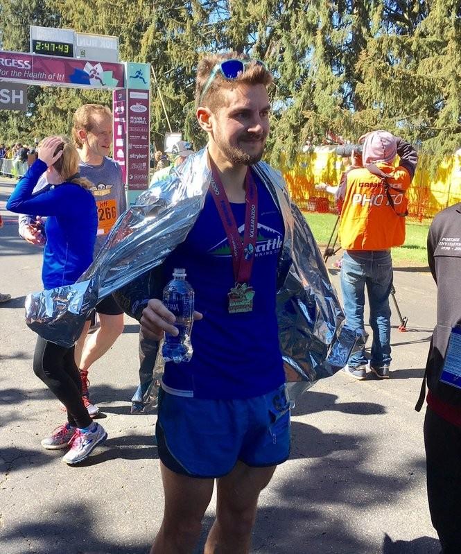 Evan Williams, 30, of Seattle, won the 2017 Kalamazoo Marathon.