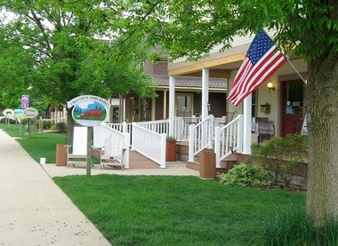 Tree-lined Park Avenue in Winona Lake, Ind., is home to a variety of shops and boutiques.