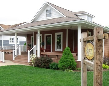 The Spice Merchant is one of the shops in The Village at Winona. Like the others, it features a large front porch, perfect for taking a shopping break.