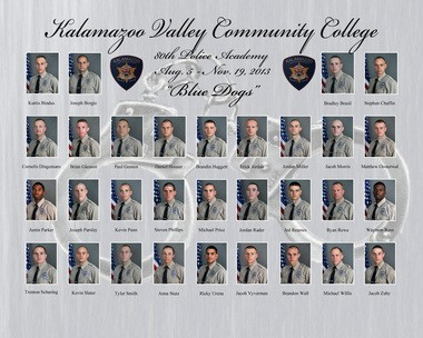 Kalamazoo Valley Community College's 80th class of Police Academy cadets