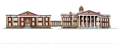 This is an artist's rendering of what a renovated East Hall could look like after the renovation is completed.