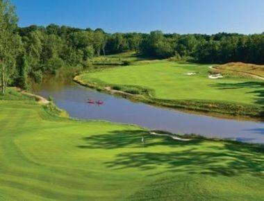 The 6,861-yard, par-71 Golf Club at Harbor Shores will host the Senior PGA Championship in 2014.