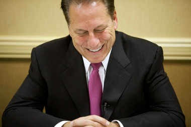 Tom Izzo maybe wouldn't be all smiles if his contract was negotiated similarly to other teachers.