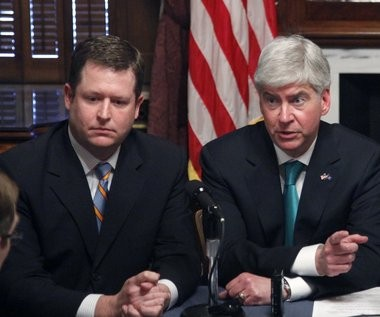 Michigan House Speaker Jase Bolger, left, voted for an abortion insurance bill later vetoed by Gov. Rick Snyder, right. The bill is back before the Legislature because of signatures collected by Right to Life of Michigan.