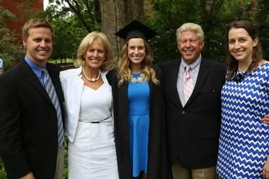 The Johnston-Stryker family at Annie Johnston's recent graduation from Vanderbilt University. From the left, Michael, Ronda, Annie, Bill and Megan.