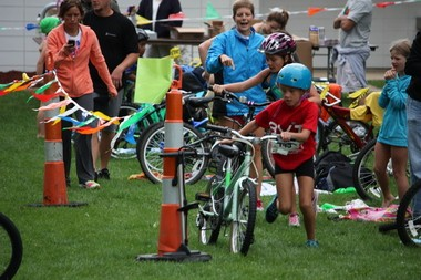 Get Active Portage includes a youth triathlon that features biking, swimming and running.