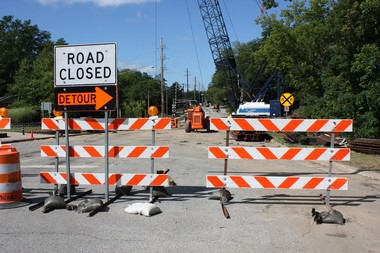 Projects such as this Kilgore Road reconstruction in Portage could be hurt if funding issues continue statewide, a regional Michigan Department of Transportation official said today.