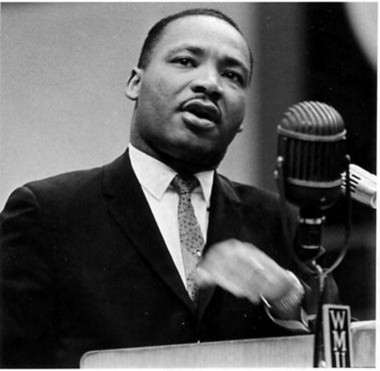 Martin Luther King spoke at Western Michigan University in December 1963.