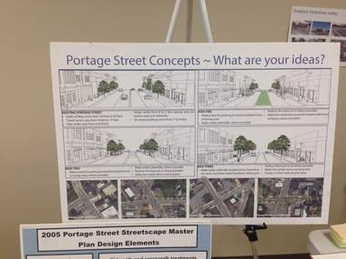 A series of planning workshops were held Tuesday and Wednesday for the community to discuss its priorities in future redevelopment of the Portage Street corridor.