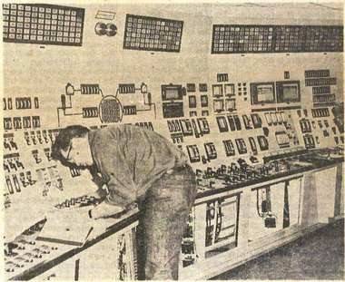 The control room at Palisades Nuclear Plant, shown in 1971. Kalamazoo Gazette archives