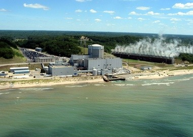 The Palisades Nuclear Plant near South Haven, Mich., is shown in this undated photo. Some environmental organizations hope to persuade the Nuclear Regulatory Commission not to issue another 20-year operating license for the plant. (AP Photo/The Herald-Palladium)