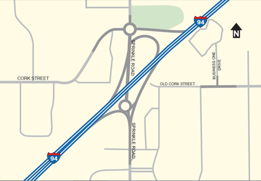 MDOT will begin reconstructing the Sprinkle Road/I-94 interchange in Kalamazoo on Monday.