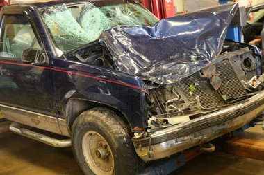 This was the pickup truck involved in a collision that killed five bicyclists on Tuesday, June 7.