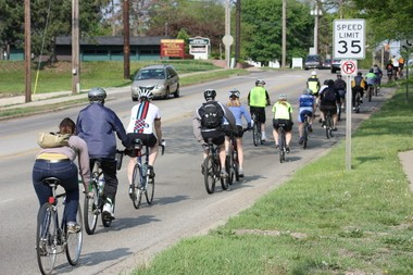 Portage has approved an ordinance amendment on the safe passing of bicyclists that would affect individuals or groups such as this one on Kilgore Road.
