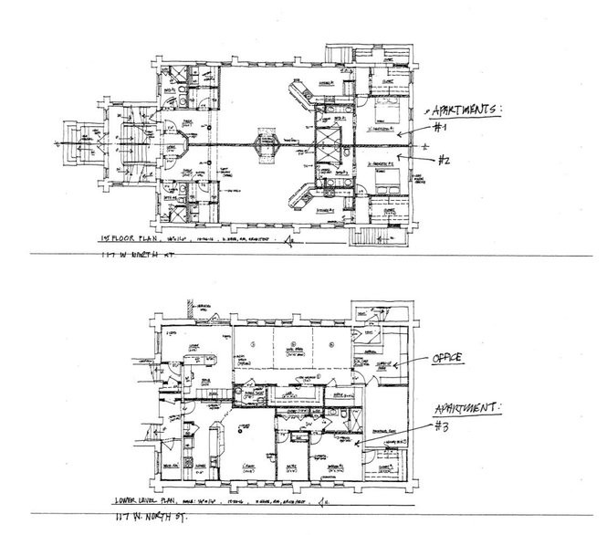 Design documents show the floor plan for apartment and office space at the development on 117 W. North St. in Kalamazoo, Mich. (Courtesy | City of Kalamazoo)