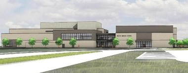 An artist's rendition of the new Portage North Middle School.