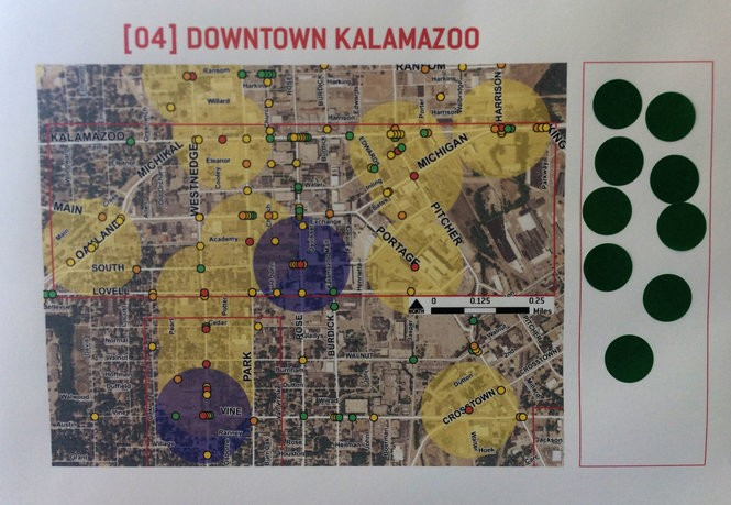 Downtown Kalamazoo is one of 14 areas in Kalamazoo County identified for its high volume of pedestrian and bicycle crashes. (Malachi Barrett | MLive.com)