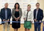 The Borgess Behavioral Crisis Center, which is to be open for service by July 1, 2017, was dedicated with a ribbon-cutting ceremony on Monday, June 5. From left are: U.S. Rep. Fred Upton; Borgess President and CEO Kathy A. Young; Michigan Sen. Margaret O'Brien; and State Rep. Brandt Iden.