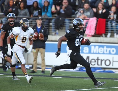 Grand Valley State's Brandon Bean scores against Ohio Dominican during a game last season.