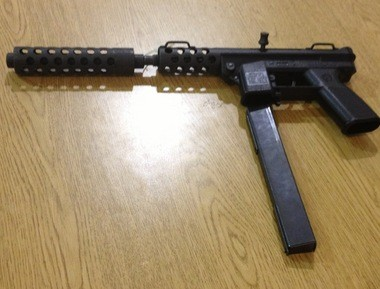 One of the guns purchased by the Lansing Police Department at its second gun buyback, held Feb. 9.