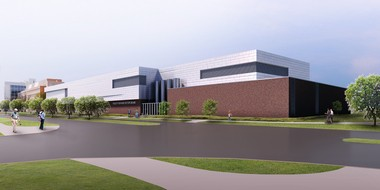 The Facility for Rare Isotope Beams at Michigan State University, pictured here in this rendering, will begin construction in June and is slated to finish in 2020.