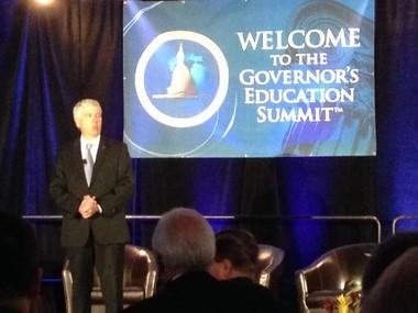Gov. Rick Snyder delivered the keynote address at the Governor's Education Summit in East Lansing on Thursday, April 24, 2014.