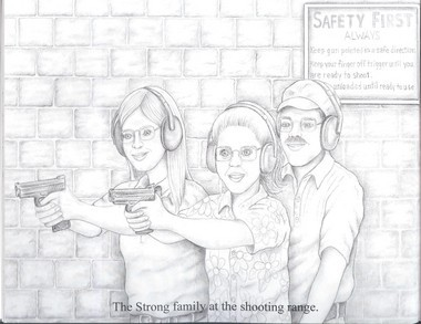 """An illustration from the book """"My Parents Open Carry"""""""