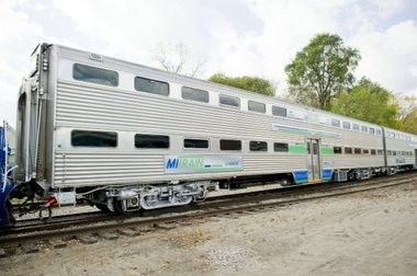 Jackson was one of the stops for six refurbished commuter rail cars tested in 2012.