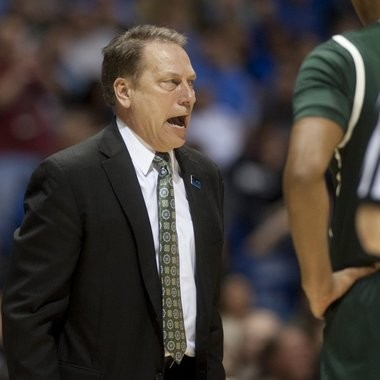 Michigan State coach Tom Izzo hasn't done anything to dampen the enthusiasm of the Spartans' fans. State is an early favorite to make a Final Four run.