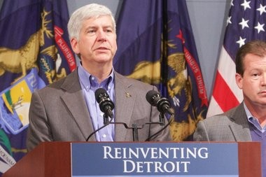 Michigan Republican Gov. Rick Snyder in a Jan. 22, 2014 file photo.