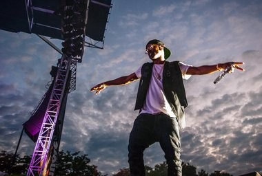 Big Sean during his performance on the Auto Value stage Friday July 11, 2014.