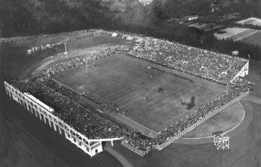 """Michigan Agricultural College Stadium, sometimes referred to as """"College Field,"""" was funded by a special act of the Michigan legislature and could hold roughly 14,000 people. (Courtesy of MSU athletics)."""