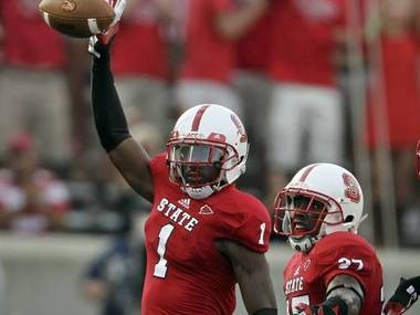 The Detroit Lions are currently hosting college prospects Eric Fisher and N.C. State's David Amerson.