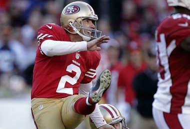 Former San Fransisco 49ers kicker David Akers is now a member of the Detroit Lions.