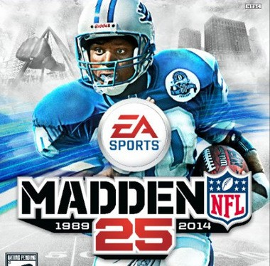 Detroit Lions Hall of Famer Barry Sanders will be on the cover of the XBox 360 and PS3 Madden games, but has been replaced by Minnesota Vikings running back Adrian Peterson on the versions for the next generation consoles, XBox One and PS4.