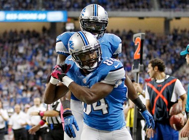 Ryan Broyles tries to haul in a catch last season as a rookie in Detroit. He tore an ACL in December and still hasn't returned to the lineup.