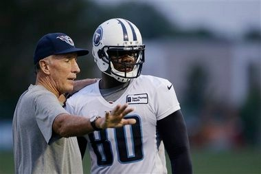 Tight end Martell Webb was with the Tennessee Titans during training camp.