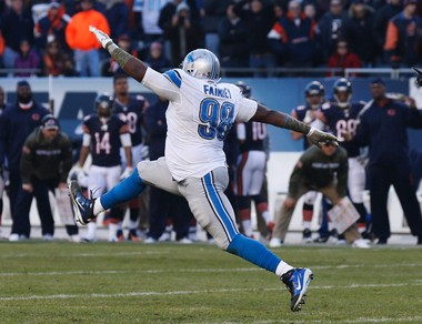 Lions DT Nick Fairley has changed games with his ability, such as this tackle of Matt Forte that saved the day for the Lions in Chicago last year. But he's vanished from other games as well.