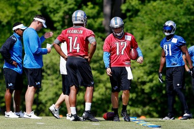 Kellen Moore and James Franklin could both be on the outside looking in when the Detroit Lions trim down to a final 53-man roster at the end of the preseason.