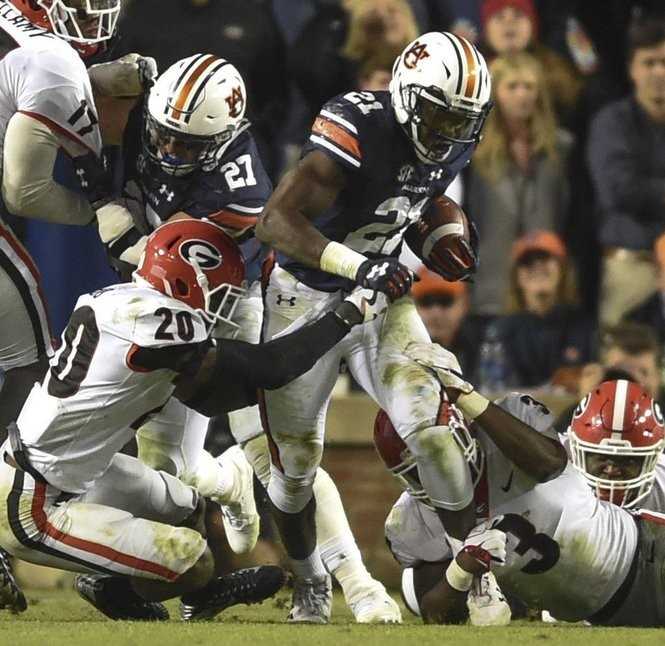 Kerryon Johnson led the Southeastern Conference with 1,391 rushing yards last season at Auburn.