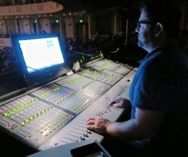 Palmer Jankens at the sound board