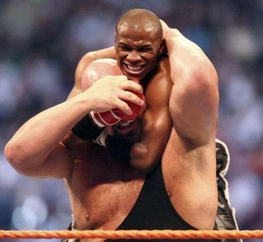 "Floyd Mayweather wrestled Paul ""Big Show"" Wight in 2008."