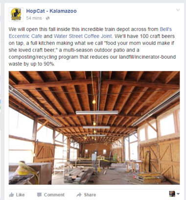 HopCat announced Thursday morning it is coming to downtown Kalamazoo