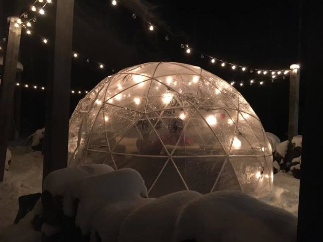 You can drink beer in an igloo at this Michigan brewery
